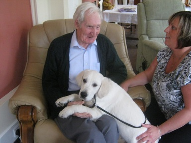 The residents at Lennel House love spending time with Jack