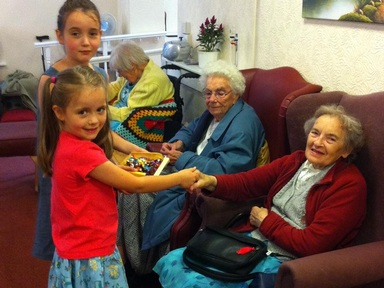 Children visit residents as care homes fight dementia stigma