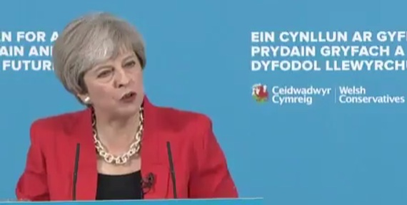 Prime Minister Theresa May launching Welsh Conservative 2017 manifesto