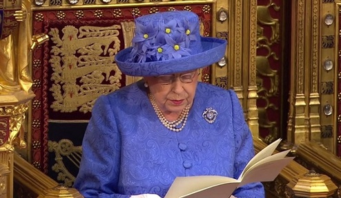 Queen outlines United Kingdom government agenda in scaled-down speech