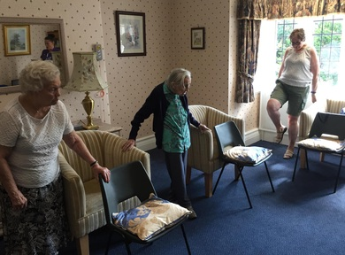 Residents at Brookfield Care Home learn to find the right balance