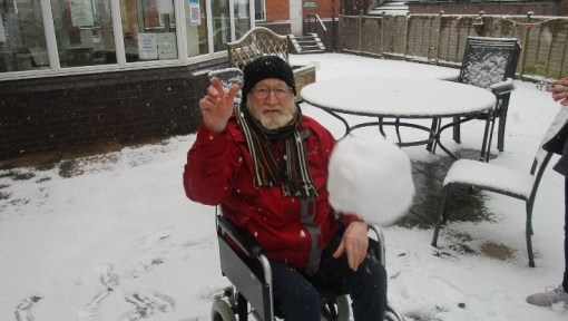 Snow business at Hinckley care home