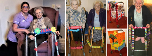'Pimped up' Zimmer frames reduce falls and confusion for care home residents with dementia