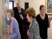 Johnny Tarrino performs for residents and staff at Watford House Residential Home