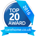 Top 20 Award 2016 carehome.co.uk