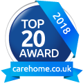 Top 20 carehome award certificate