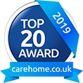 Top 20 Award 2019 carehome.co.uk